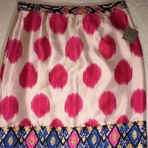 NWT Maeve Anthropologie silk skirt Sz 12